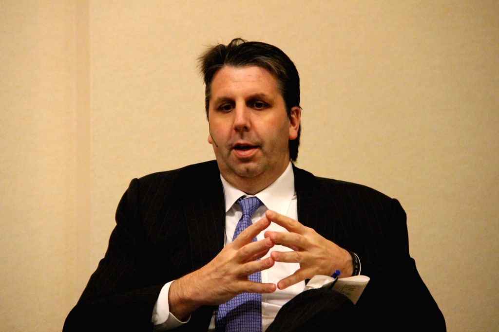 Mark Lippert, former U.S. ambassador to South Korea, speaks at a forum in Washington D.C. on June 13, 2018, to discuss the human rights situation in North Korea.