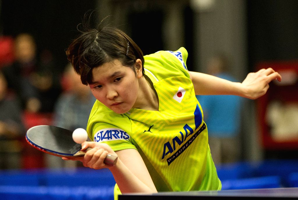 MARKHAM, Dec. 7, 2019 - Honoka Hashimoto of Janpan returns the ball to Liu Xi of China during the first round of women's singles match at the 2019 ITTF Chanllenge Plus North American Open in Markham, ...