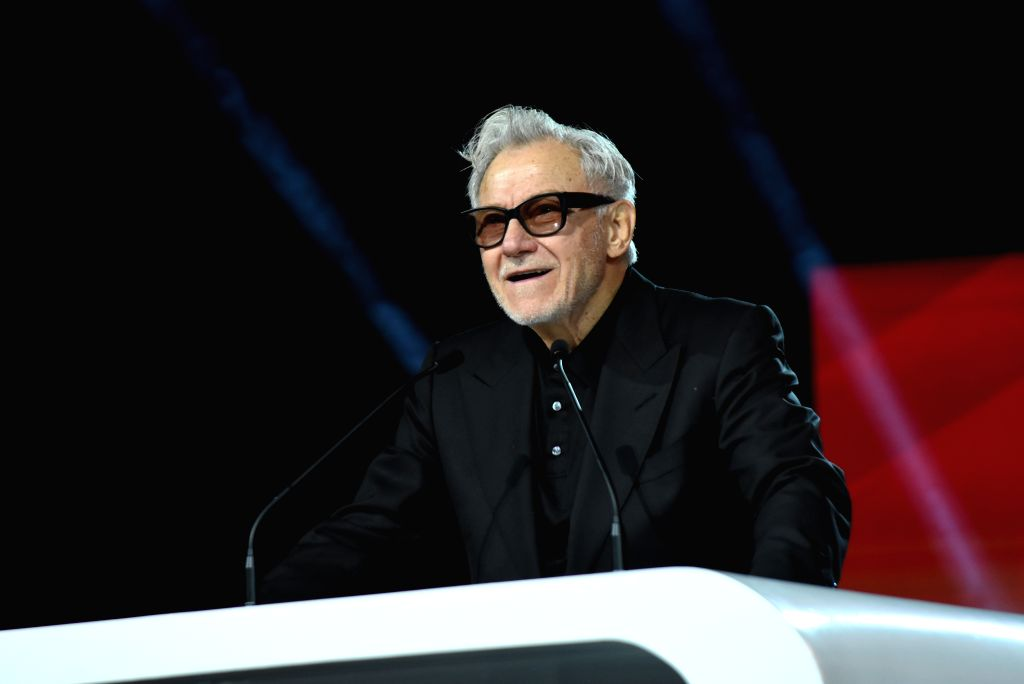 MARRAKECH, Dec. 2, 2019 - Actor Harvey Keitel attends the tribute to French director Bertrand Tavernier during the 18th Marrakech International Film Festival in Marrakech, Morocco, Dec. 1, 2019. - Harvey Keitel