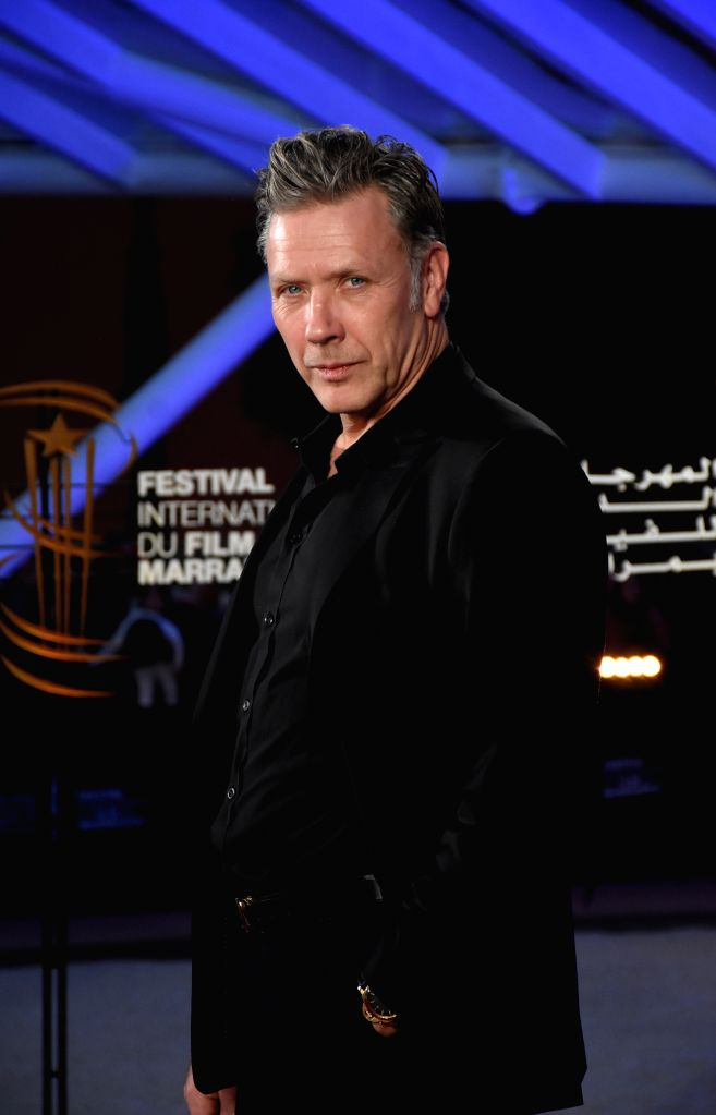 MARRAKECH, Dec. 2, 2019 - Actor Mikael Persbrandt attends the tribute to French director Bertrand Tavernier during the 18th Marrakech International Film Festival in Marrakech, Morocco, Dec. 1, 2019. - Mikael Persbrandt
