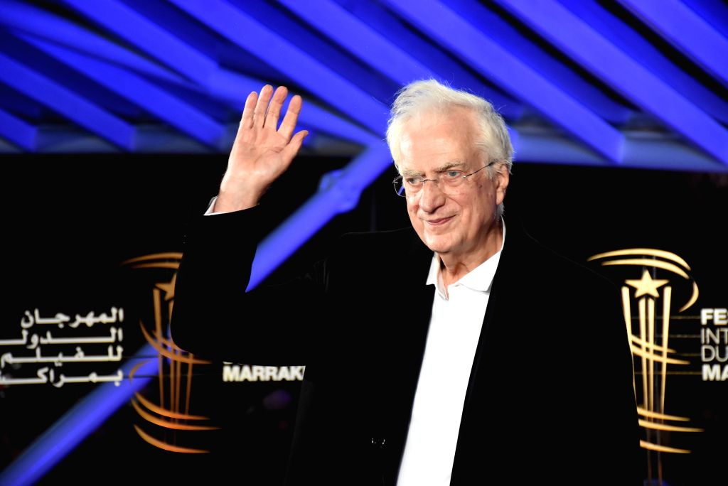 MARRAKECH, Dec. 2, 2019 - French director Bertrand Tavernier attends the tribute to himself during the 18th Marrakech International Film Festival in Marrakech, Morocco, Dec. 1, 2019. - Bertrand Tavernier