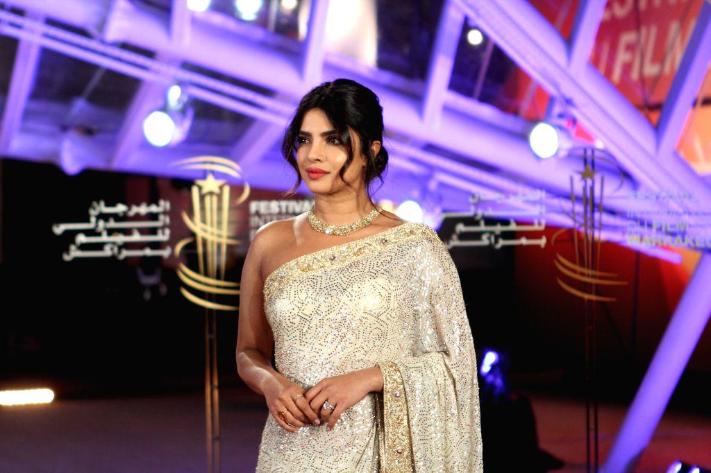 MARRAKECH, Dec. 6, 2019 - Actress Priyanka Chopra attends the 18th Marrakech International Film Festival in Marrakech, Morocco, Dec. 5, 2019. - Priyanka Chopra
