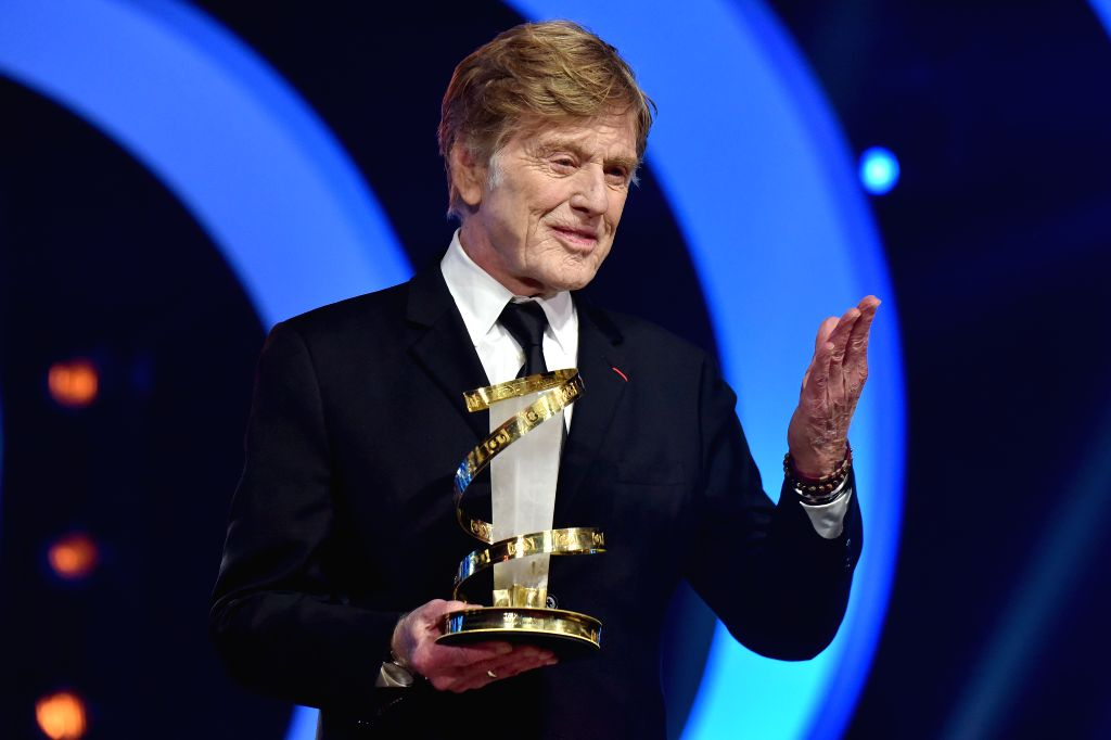 MARRAKECH, Dec. 7, 2019 - Robert Redford poses after receiving a career tribute at the 18th Marrakech International Film Festival in Marrakech, Morocco, Dec. 6, 2019. The 18th edition of Morocco's ... - Robert Redford