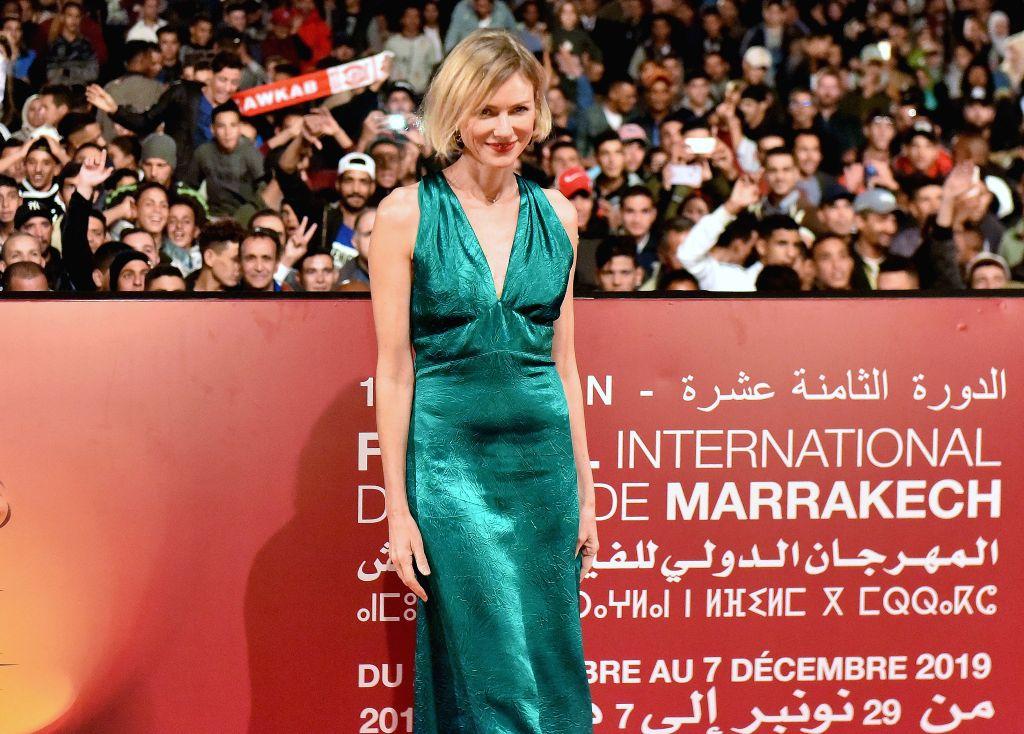 "MARRAKECH (MOROCCO), Nov. 30, 2019 Actress Naomi Watts attends the screening of movie ""King Kong"" at the Jemaa el-Fna Square in Marrakech, southern Morocco, Nov. 29, 2019. ... - Naomi Watts"