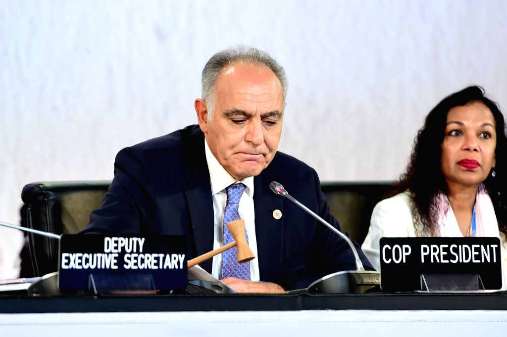MARRAKECH, Nov. 19, 2016 - Moroccan Foreign Minister Salaheddine Mezouar (L), president of the 22nd Conference of the Parties to the United Nations Framework Convention on Climate Change (COP22), ... - Salaheddine Mezouar