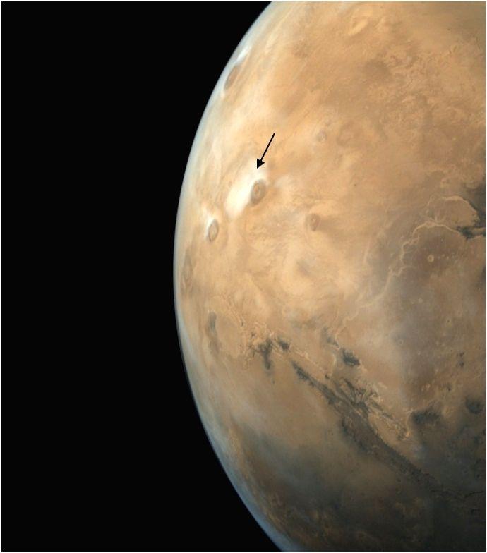 Mars disc imaged by MCC on Nov 9, 2017.