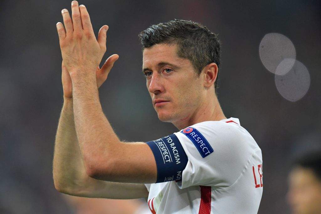 MARSEILLE, July 1, 2016 - Robert Lewandowski of Poland greets the spectators after the Euro 2016 quarterfinal match between Portugal and Poland in Marseille, France, June 30, 2016. Portugal won in a ...
