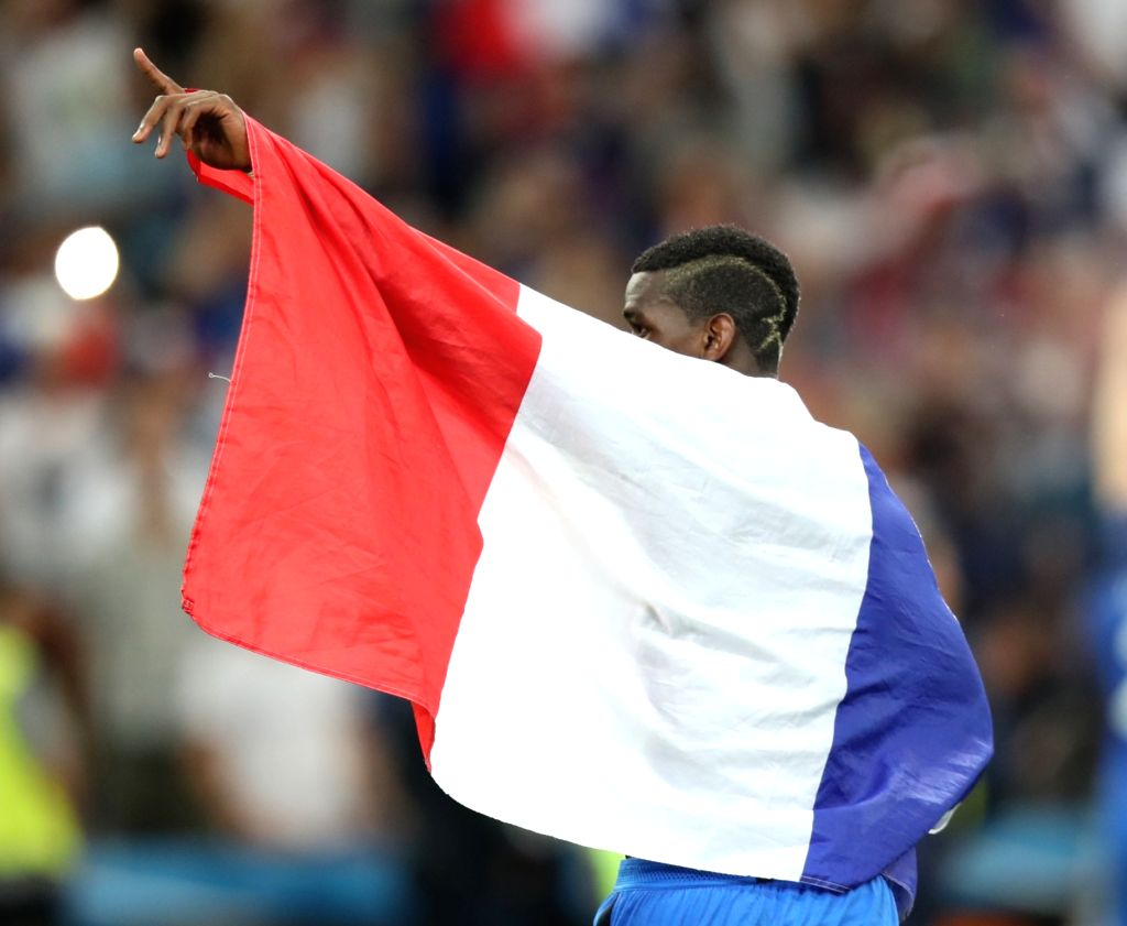 MARSEILLE, July 8, 2016 - Paul Pogba of France greets the spectators after the Euro 2016 semifinal match between France and Germany in Marseille, France, July 7, 2016. France won 2-0 to enter the ...