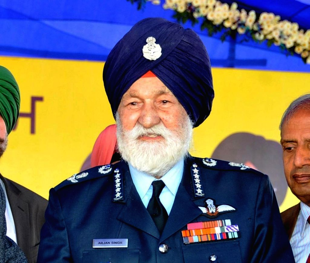 Marshal of the Indian Air Force Arjan Singh. (File Photo: IANS)