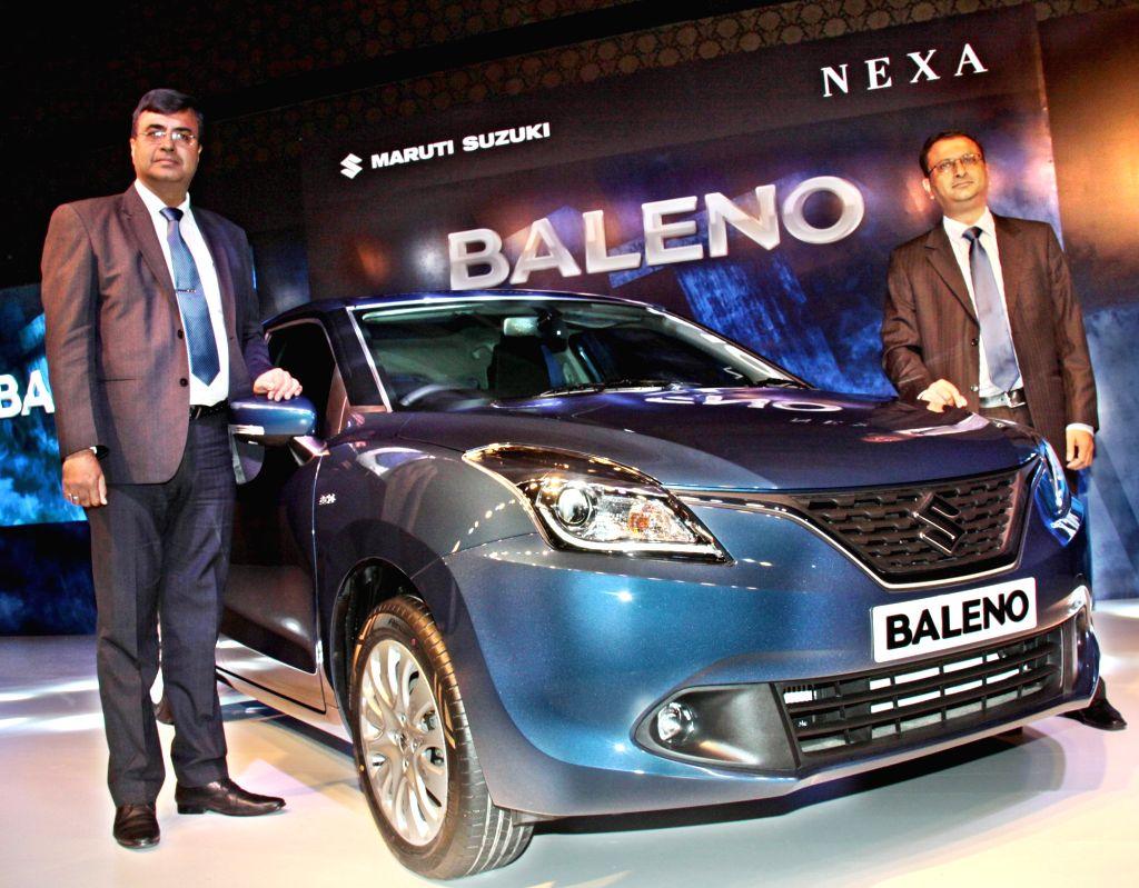 Maruti launches its new Baleno in Bengaluru, on Oct 27, 2015.