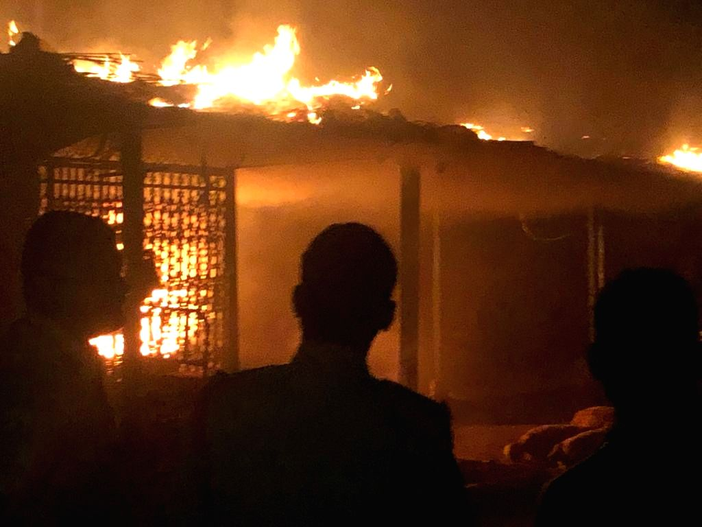 Massive fire broke out at the Madannapet vegetable market in Hyderabad early on Oct 6, 2020. Property worth lakhs of rupees was gutted in the fire mishap. It took almost an hour for the ...