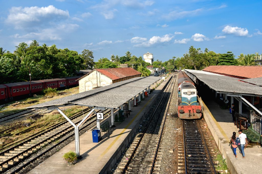 MATARA, April 9, 2019 - Photo taken on April 5, 2019 shows the Matara railway station in Sri Lanka. The Sri Lankan government declared on Monday to open a railway line constructed between Matara and ...