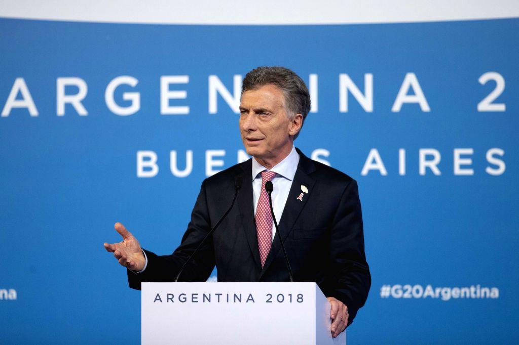 Mauricio Macri. (Xinhua/Li Ming/IANS)
