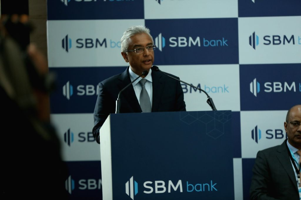 Mauritius Prime Minister P.K. Jugnauth addresses at the inauguration of the SBM Bank (India) Ltd in Mumbai, on Jan 25, 2019. SBM Bank (India) Ltd becomes the first foreign bank in India that ... - P.