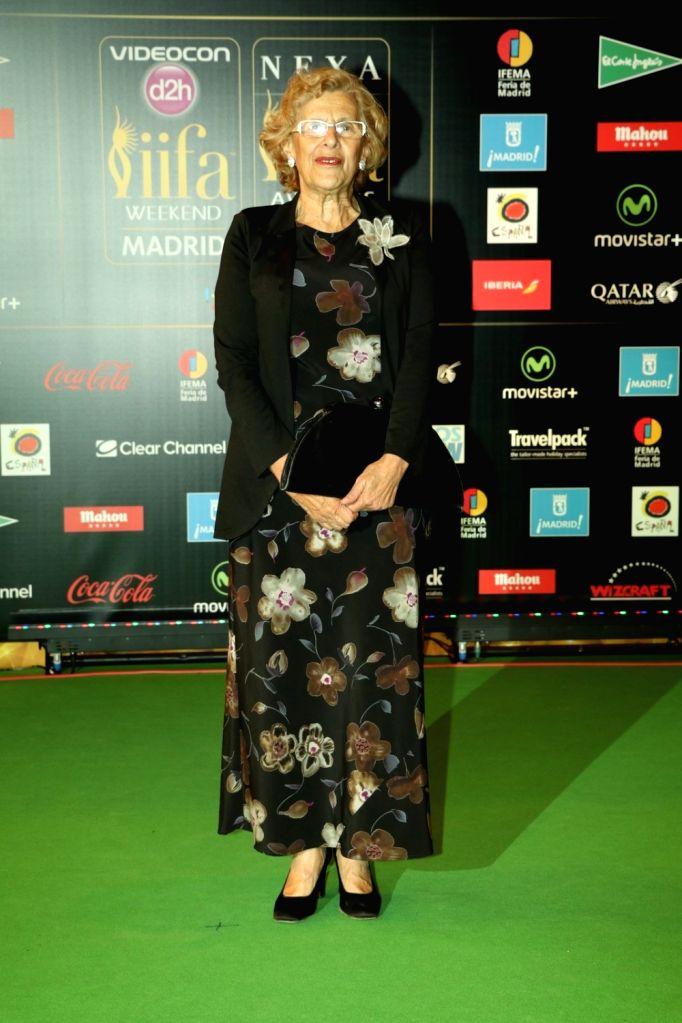 Mayor Manuela Carmena during IIFA Awards in Madrid on June 26, 2016.