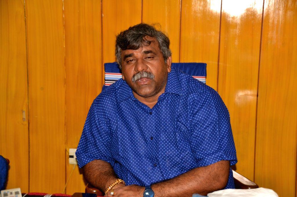Mayor of Asansol Municipal Corporation and Trinamool Congress MLA Jitendra Kumar Tiwari who filed FIR against Union Minister Babul Supriyo in Asansol on June 1, 2019. - Babul Supriyo and Jitendra Kumar Tiwari