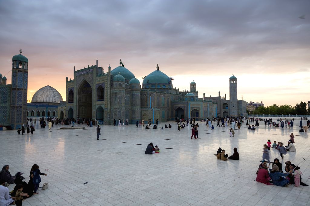 MAZAR-E-People visit the historic Blue Mosque in Mazar-e-Sharif, Afghanistan on April 21, 2017.