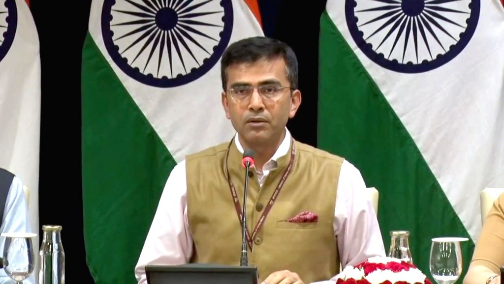 MEA spokesperson Raveesh Kumar briefs media regarding the upcoming visit of President to Philippines and Japan in New Delhi on Oct 16, 2019. - Raveesh Kumar