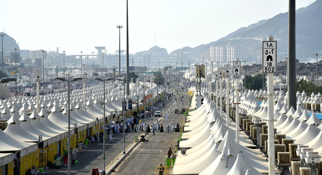 MECCA, Sept. 15, 2016 - Tents of Muslim pilgrims are seen in Mina near Mecca, Saudi Arabia, on Sept. 14, 2016. The annual pilgrimage officially ends on Sept. 15.