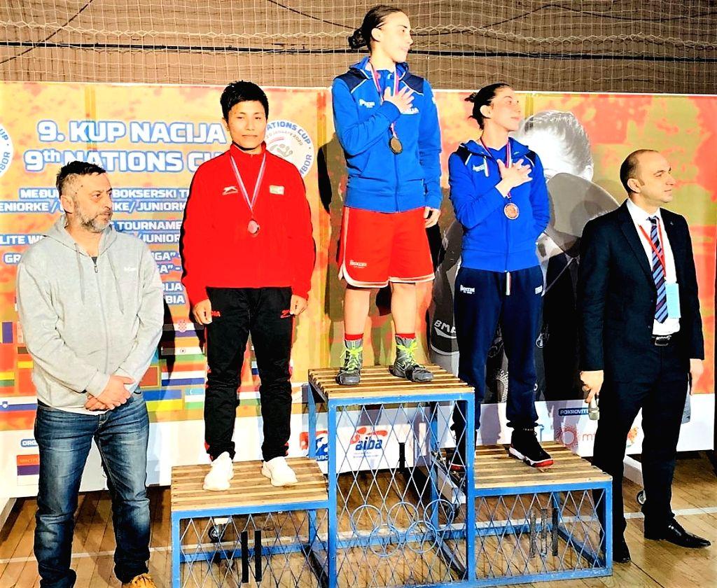Meena Kumari won silver medal in 54 Kg category.