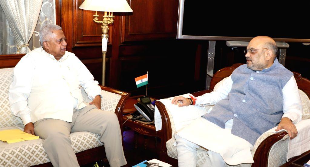 Meghalaya Governor Tathagata Roy meets Union Home Minister Amit Shah, in New Delhi on June 14, 2019. - Amit Shah and Tathagata Roy