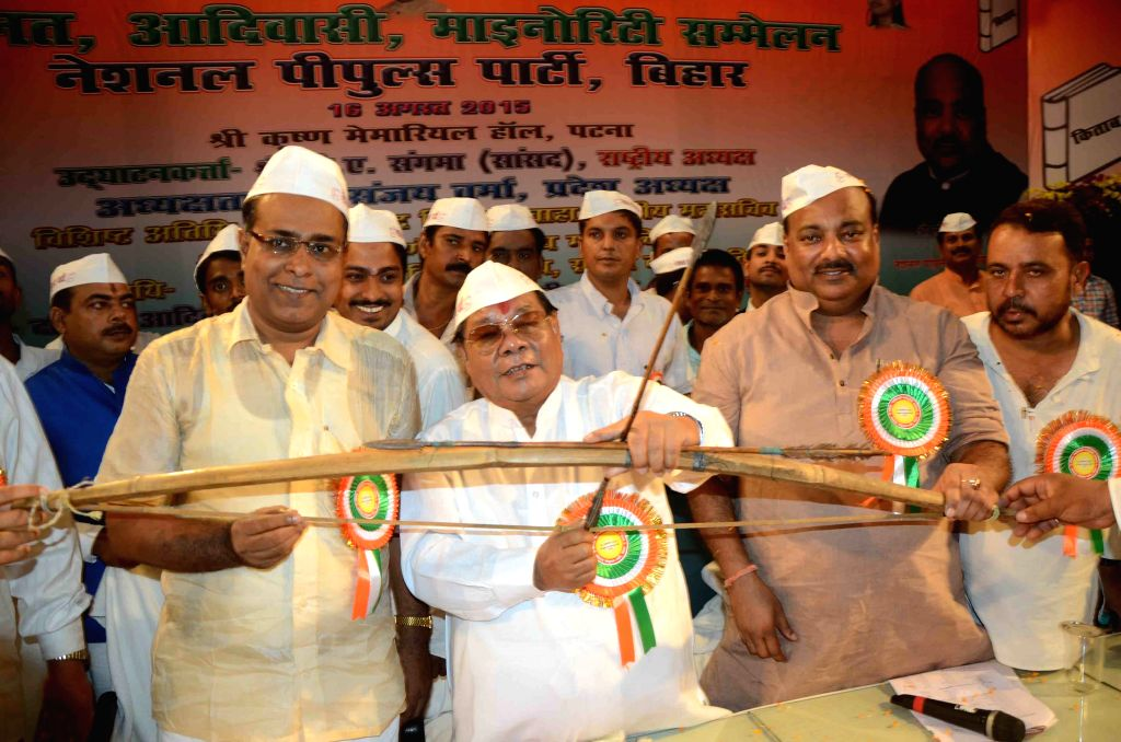 Meghalaya MP P A Sangma during a programme in Patna on Aug 16, 2015.