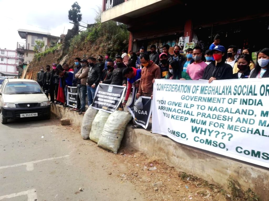 Meghalaya parties' stir to enforce ILP to keep the state out of CAA purview.