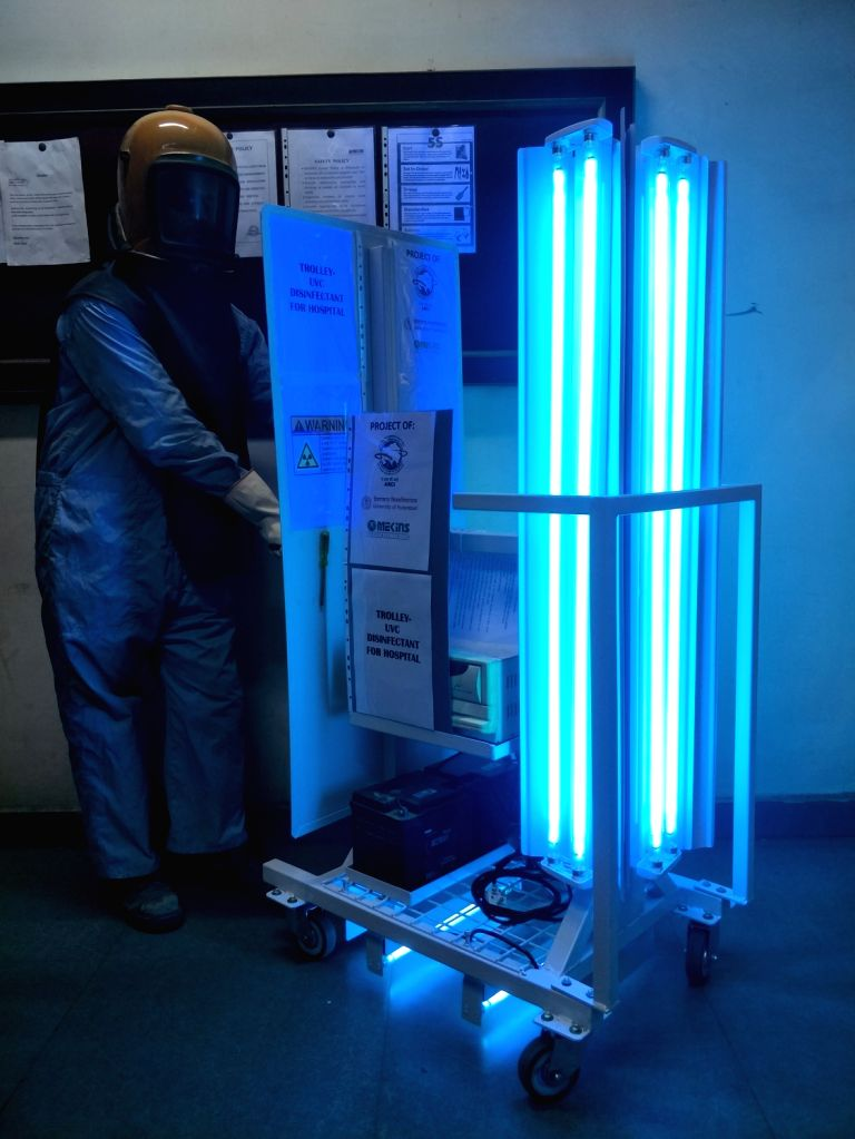 Mekins develop UVC based disinfection trolley for Covid-19