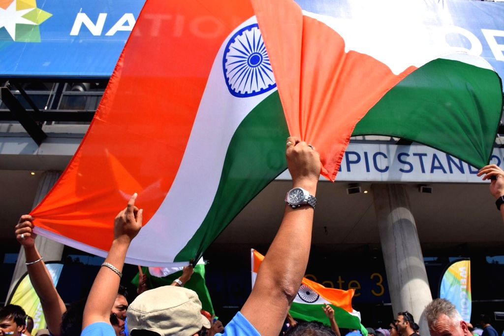 Indian cricket fans outside the Melbourne Cricket Ground before the cricket World Cup match between India and Bangladesh on March 19, 2015.
