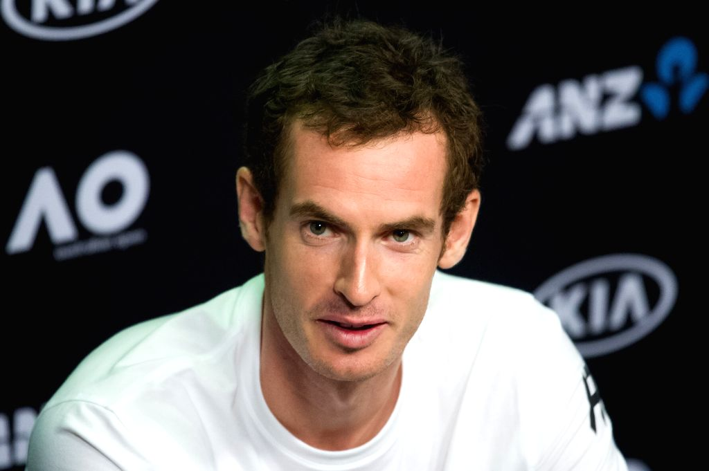 MELBOURNE, Jan. 14, 2017 - Andy Murray of Great Britain speaks at the press conference ahead of Australian Open 2017 at Melbourne Park in Melbourne, Australia, Jan. 14, 2017. Australian Open 2017 ...