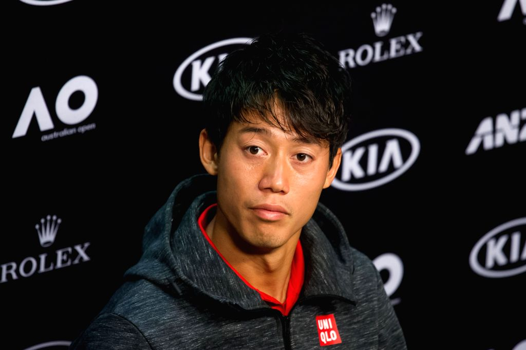 MELBOURNE, Jan. 14, 2017 - Kei Nishikori of Japan attends the press conference ahead of Australian Open 2017 at Melbourne Park in Melbourne, Australia, Jan. 14, 2017. Australian Open 2017 will take ...