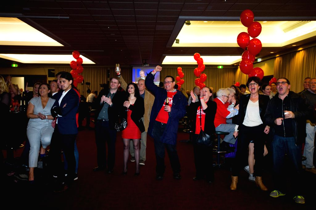 MELBOURNE, July 2, 2016 - Supporters of the Australian Labor Party attend the Labor Party Election Night event at the Moonee Valley Racing Club on 2016 Election Day in Melbourne, Australia, July 2, ...
