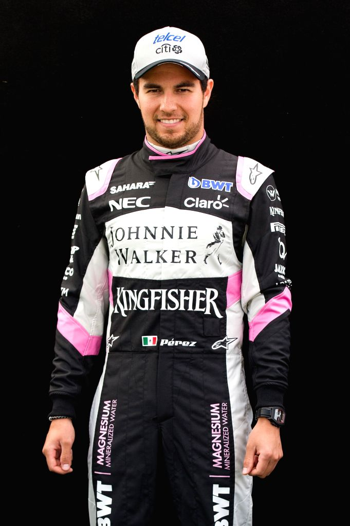 MELBOURNE, March 23, 2017 (Xinhua) -- Sahara Force India Formula One driver Sergio Perez of Mexico poses for the portrait session ahead of the Australian Formula One Grand Prix in Melbourne, Australia, March 23, 2016. The Australian Formula One Grand