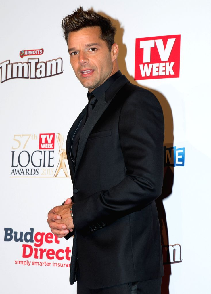 U.S. pop singer Ricky Martin arrives at the red carpet of the 57th Annual Logie Awards at Crown hotel in Melbourne, Australia, May 3, 2015.