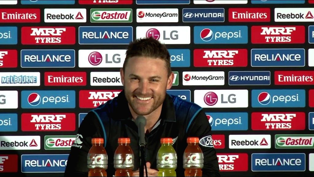 New Zealand captain Brendon McCullum addresses a press conference at the Melbourne Cricket Ground in Melbourne, Australia on March 28, 2015.