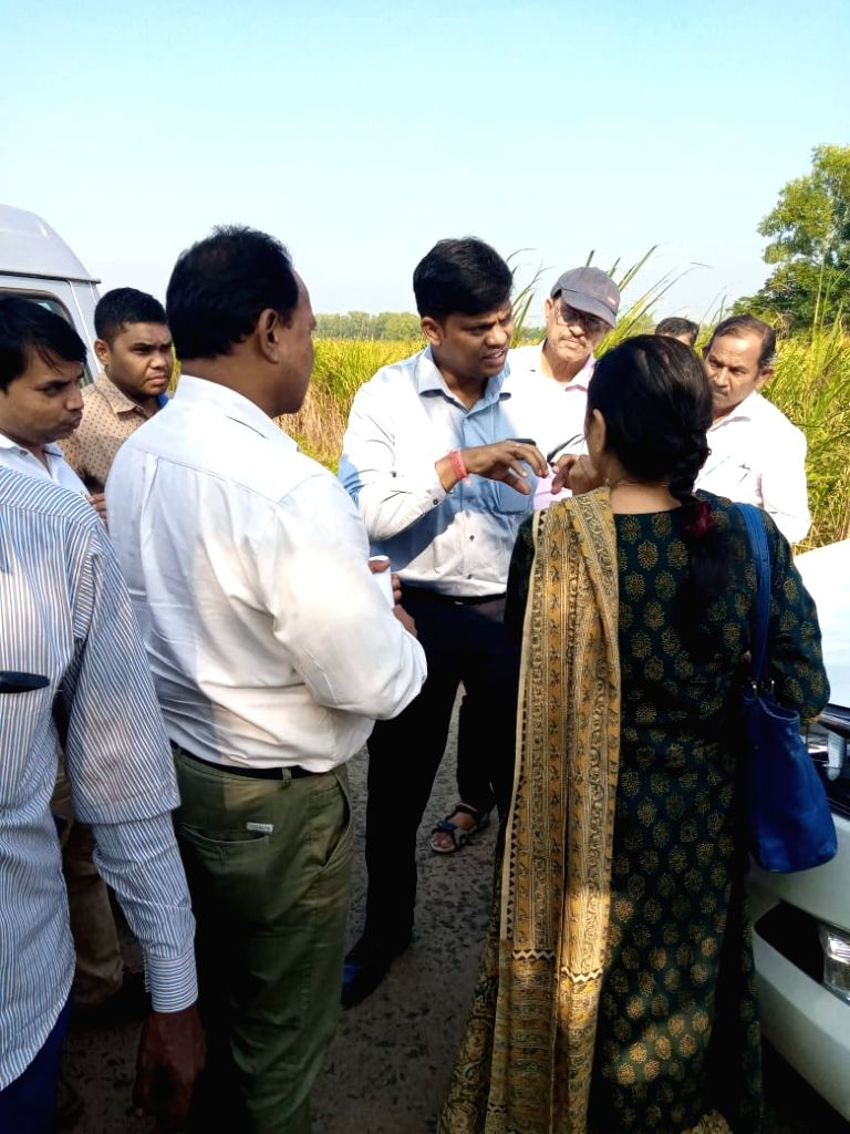 Members of an Inter ministerial central team visit the Cyclone Bulbul affected areas of Balasore district in Odisha on Nov 15, 2019.
