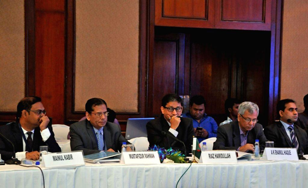 Members of Bangladesh delegation during the 3rd Bangladesh-China-India-Myanmar Economic Corridor Joint Study Group (BCIM-EC-JSG) meeting in Kolkata, on April 25, 2017.
