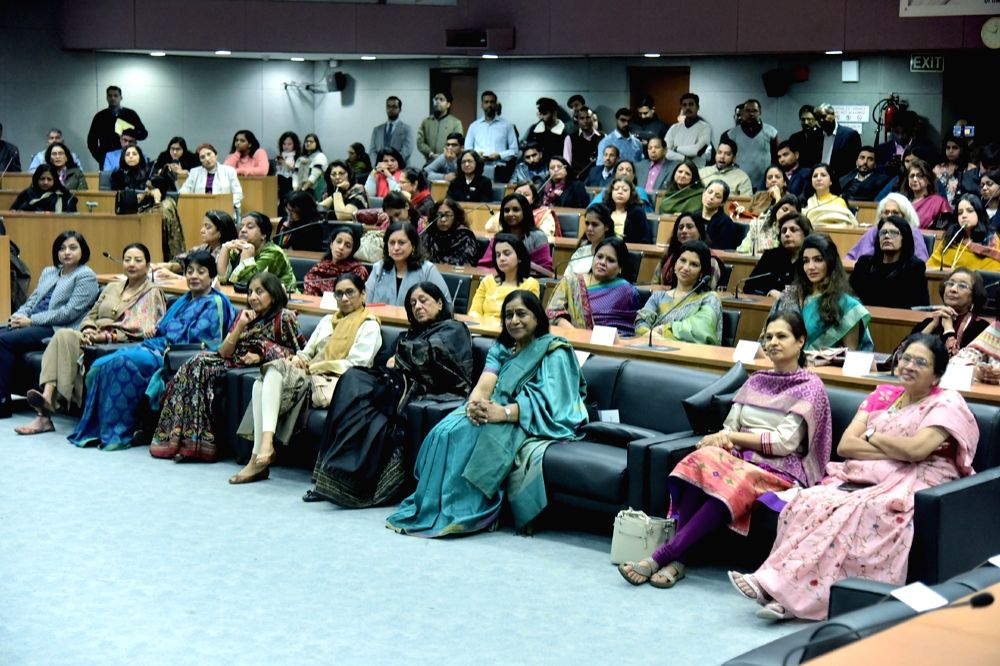 Members of FICCI Ladies Organisation (FLO) during an interactive session with Delhi Chief Minister Arvind Kejriwal, in New Delhi on Dec 13, 2019. - Arvind Kejriwal