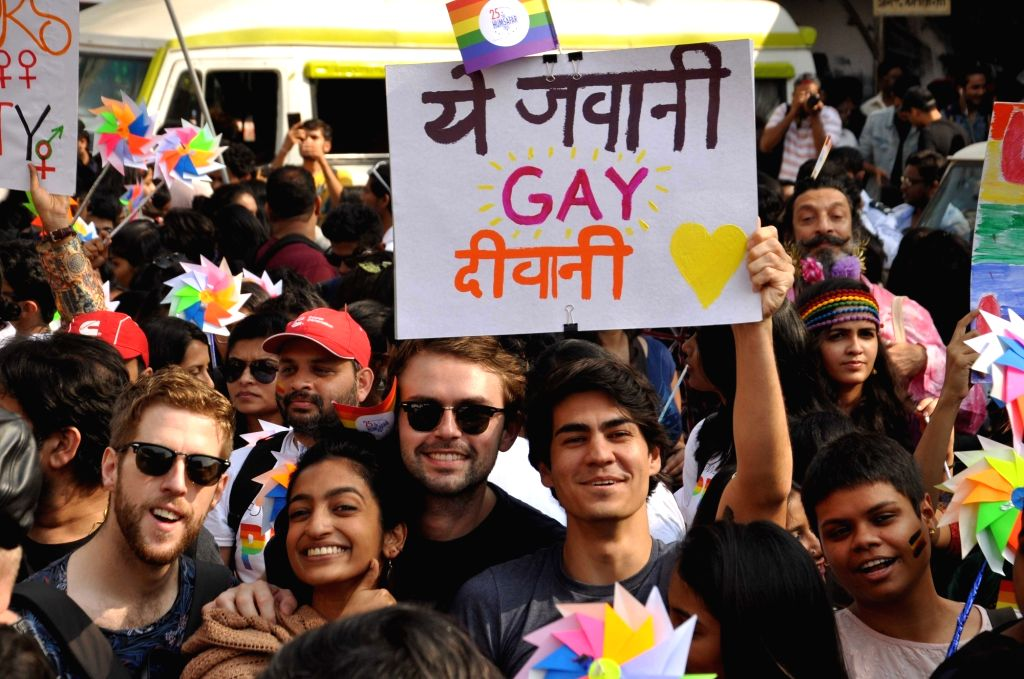 Members of the LGBT (Lesbian, Gay, Bisexual, and Transgender) participate in Queer Pride Parade in Mumbai on Feb. 2, 2019.