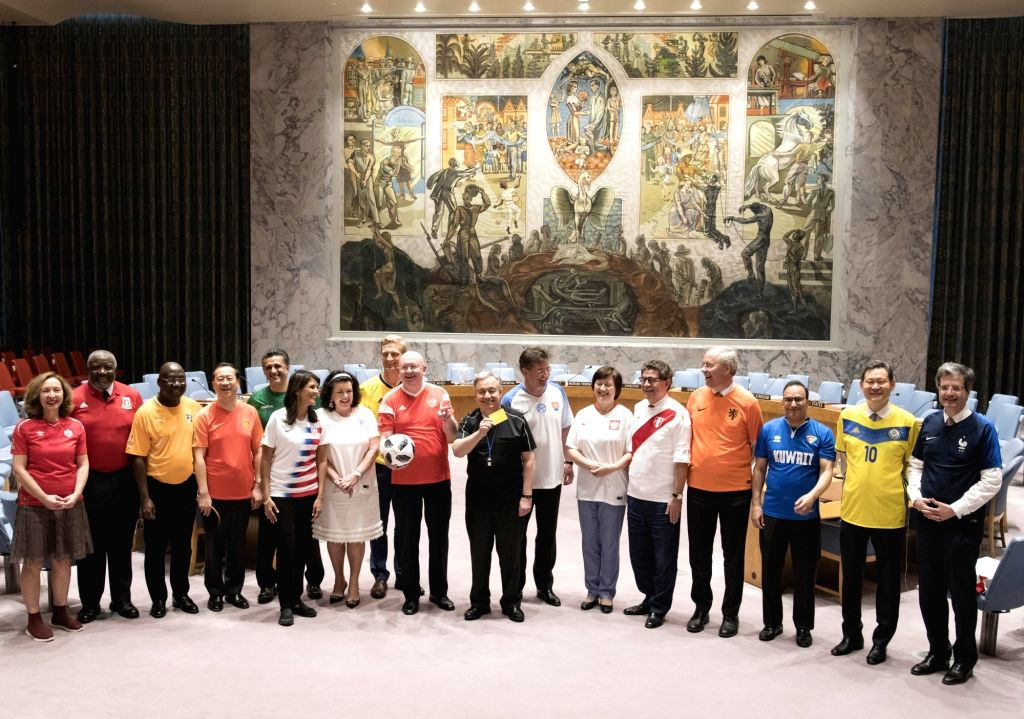 Members of the United Nations Security Council put aside their bitter political difference in a spirit of sportsmanship to celebrate the opening of the FIFA World Cup tournament. Along with ...