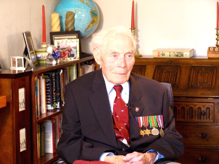 Memories of a Forgotten War Working Still featuring WW II veteran Maurice Bell at Lee On the Solent, Portsmouth, England