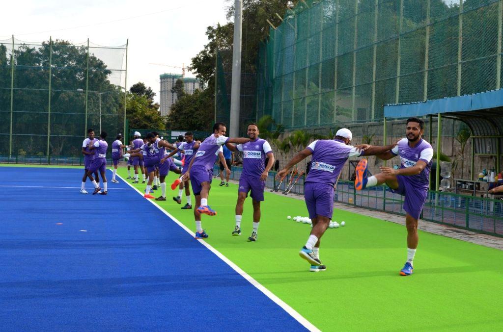 Men's hockey campers resume training at SAI Bangalore.