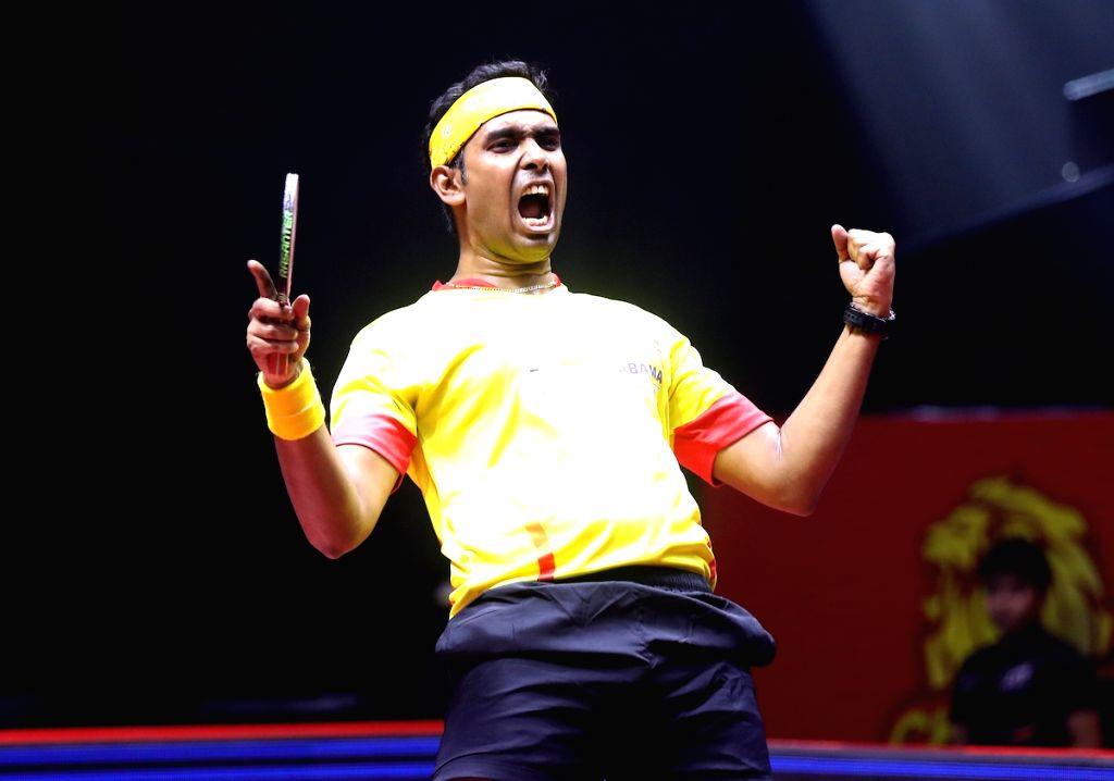 Men's Singles - Manav Thakkar lost to Sharath Kamal 1-2 (7-11, 11-5, 10-11)