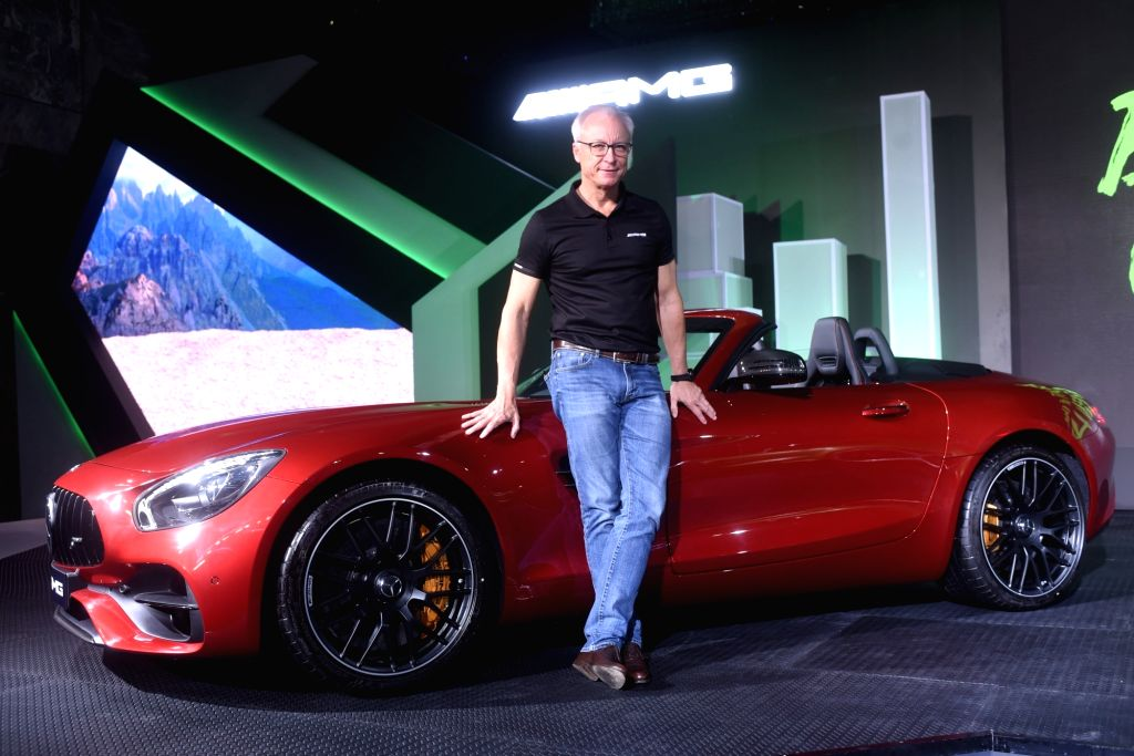 Mercedes-Benz India Managing Director and CEO Roland Folger launches luxury car AMG GT Roadster in New Delhi on Aug 21, 2017.