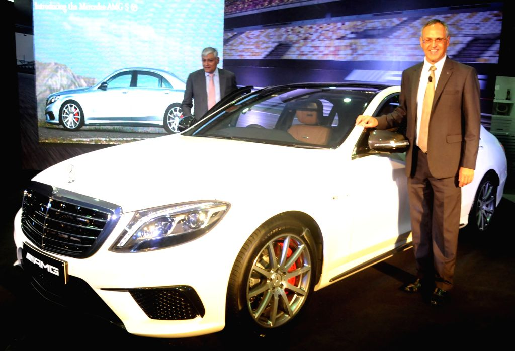 Mercedes Benz India MD and CEO Eberhard Kern at the launch of Mercedes AMG S 63 Sedan in Bengaluru, on Aug 11, 2015.