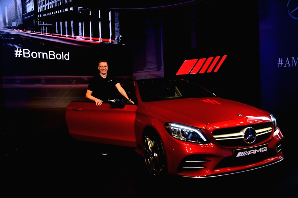 Mercedes-Benz India MD and CEO Martin Schwenk at the launch of Mercedes-AMG C 43 4MATIC Coupe in New Delhi, on March 14, 2019.