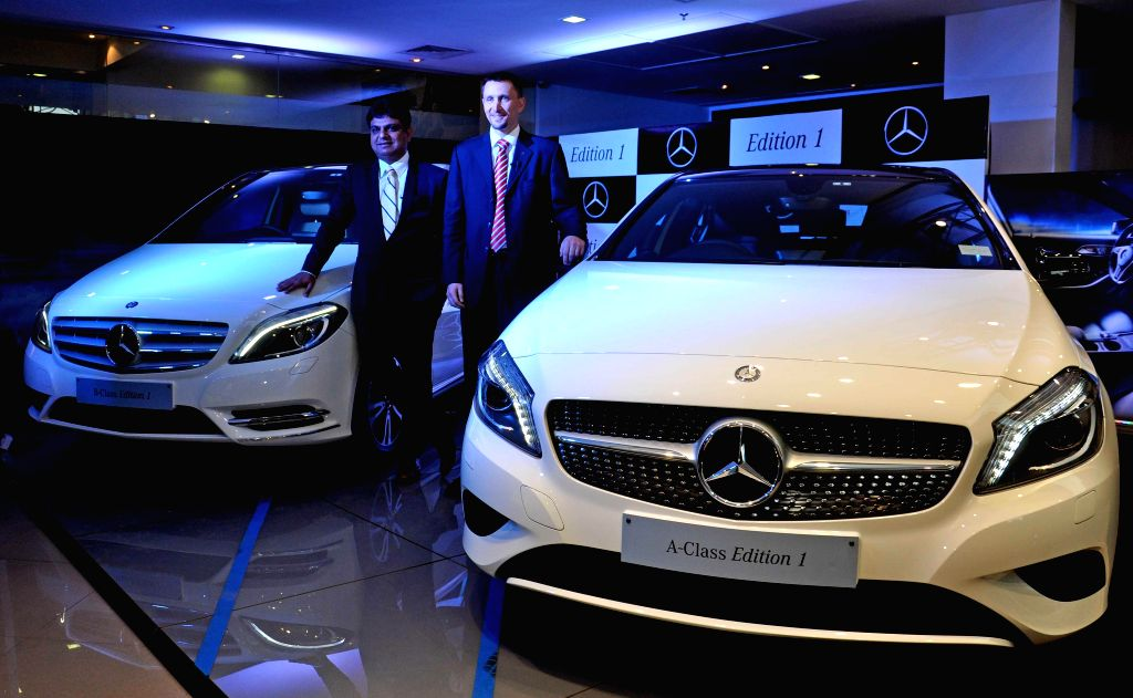 Mercedes-Benz India, Sales and Network Development Vice President Boris Fitz at the launch of Special A-Class and B-Class 'Edition 1' cars in Kolkata on June 26, 2014.