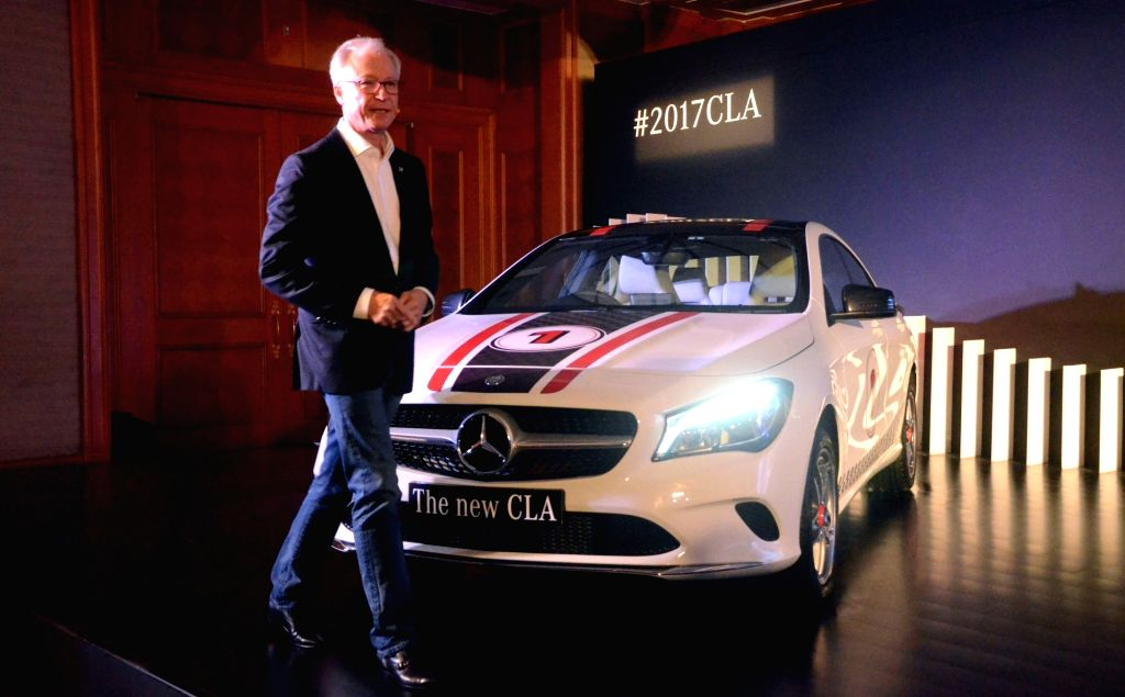 Mercedes-Benz MD and CEO Roland Folger during the launch of Mercedes 'CLA 200, CLA 200 d Sport and CLA 200 sport' in Mumbai on Nov 30, 2016.