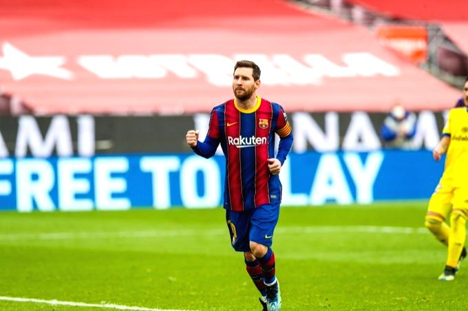 Messi sets club record but Barca drop points.(Credit: Barcelona Twitter)