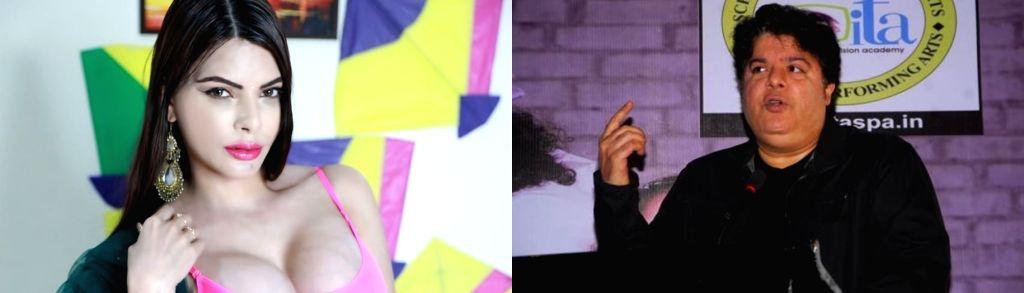 #Metoo: Sherlyn Chopra accuses Sajid Khan of flashing his privates. - Sherlyn Chopra and Sajid Khan
